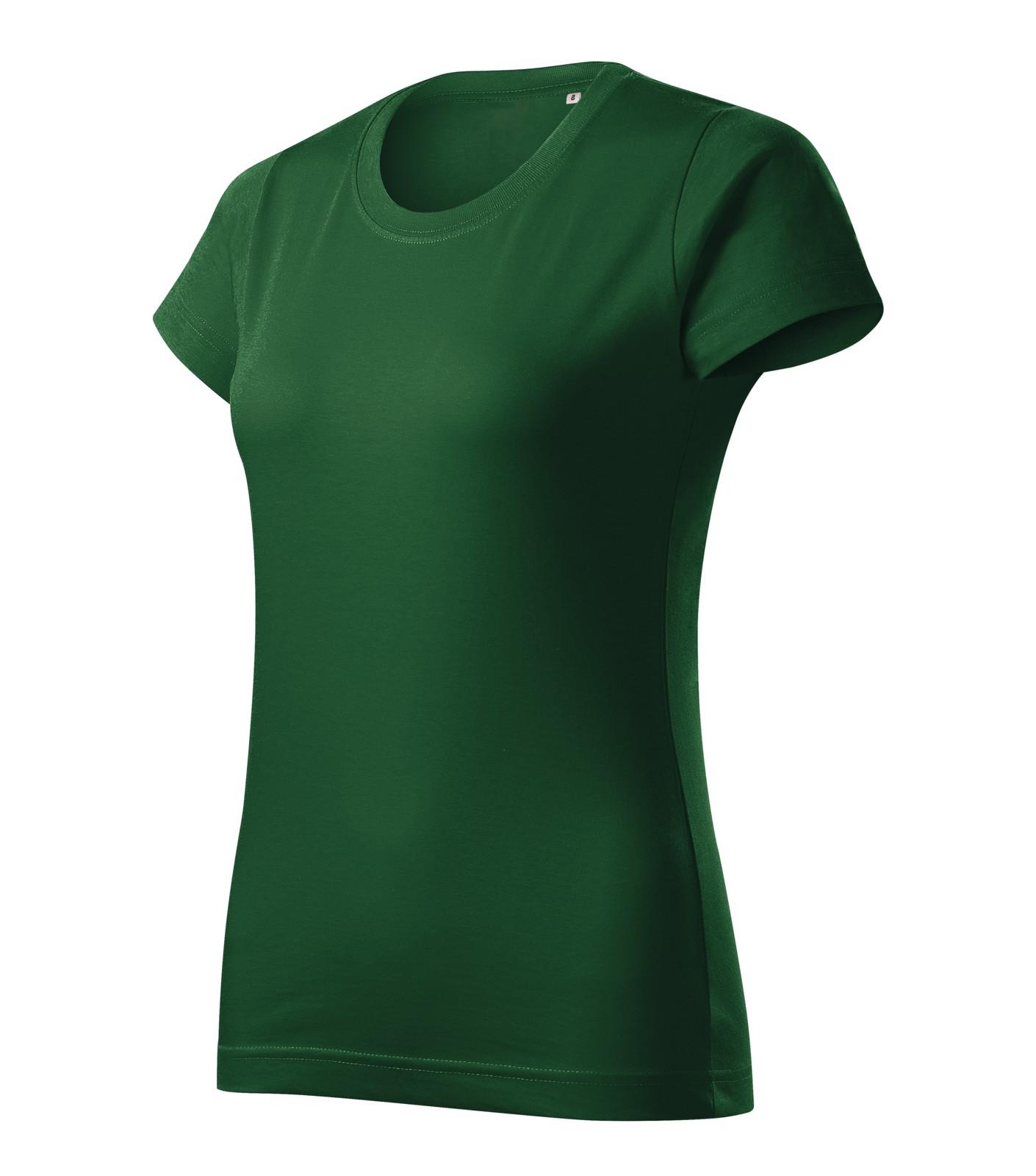 T-shirt women's Malfini Basic Free - Bottle Green / L