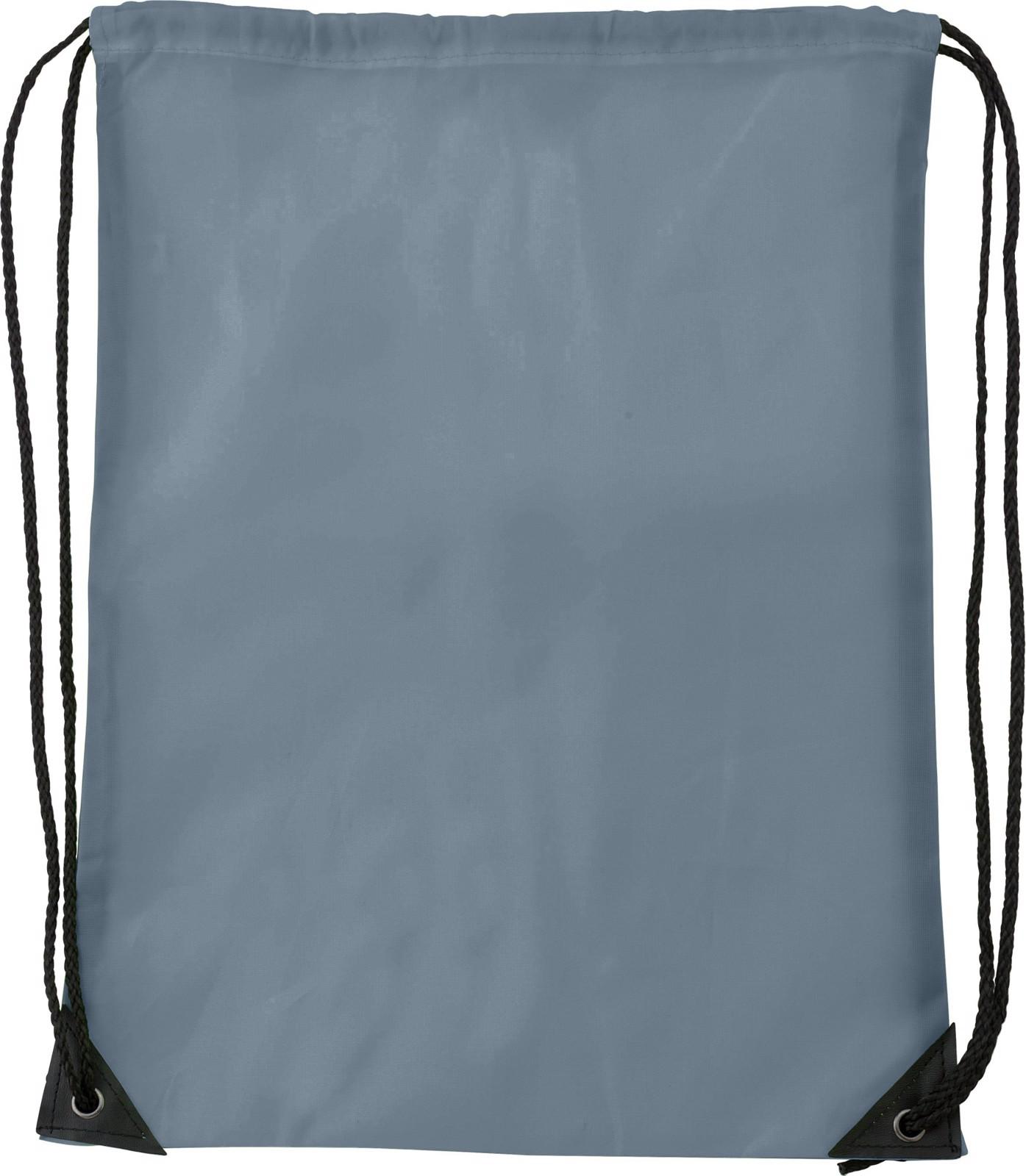 Polyester (210D) drawstring backpack - Grey