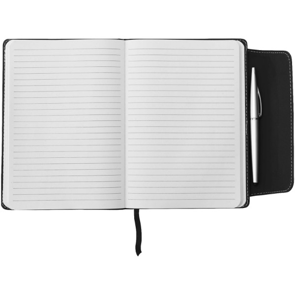Zápisník A5 Horsens a stylus s kuličkovým perem - Černá