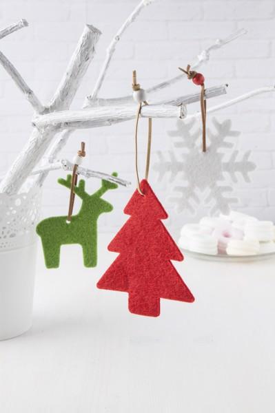 Christmas Tree Ornament Fantasy, Snowflake - White