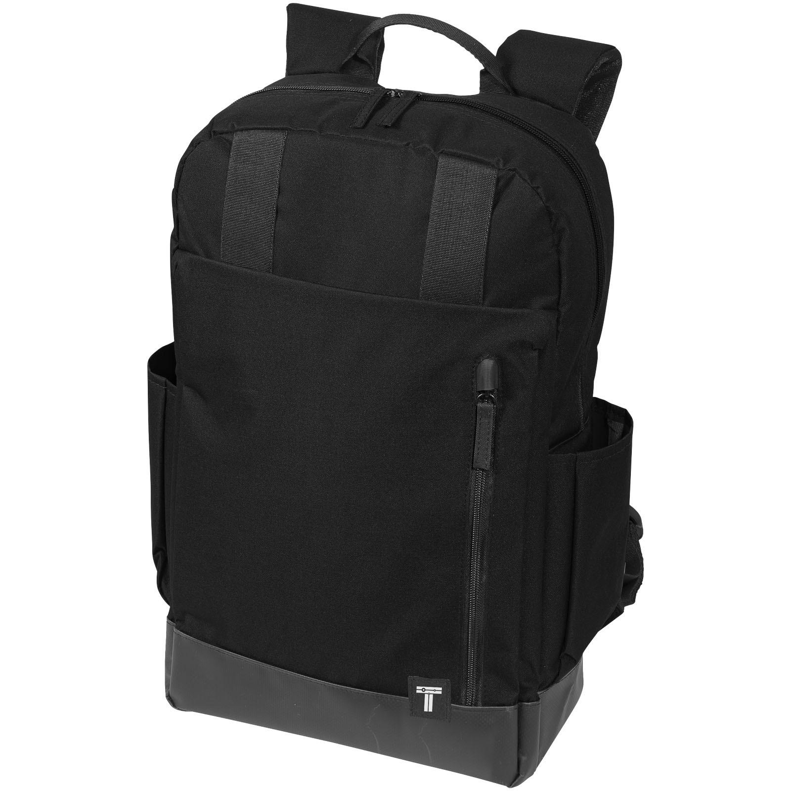 """Compu 15.6"""" laptop backpack - Solid Black"""