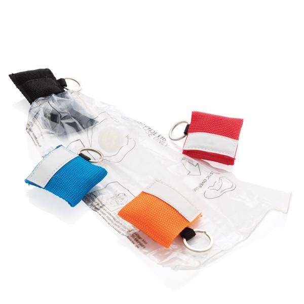 CPR maszk kulcstartóval - Fekete