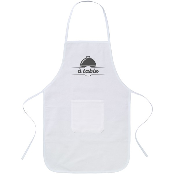 Giada cotton childrens apron - White