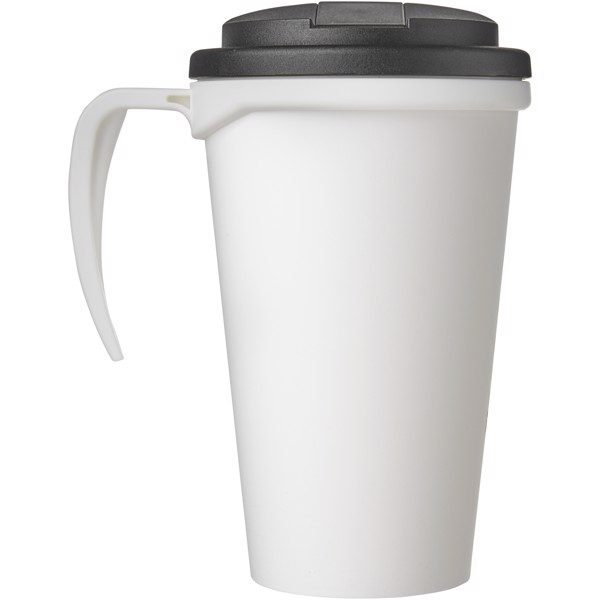 Americano Grande 350 ml mug with spill-proof lid - White / Solid Black