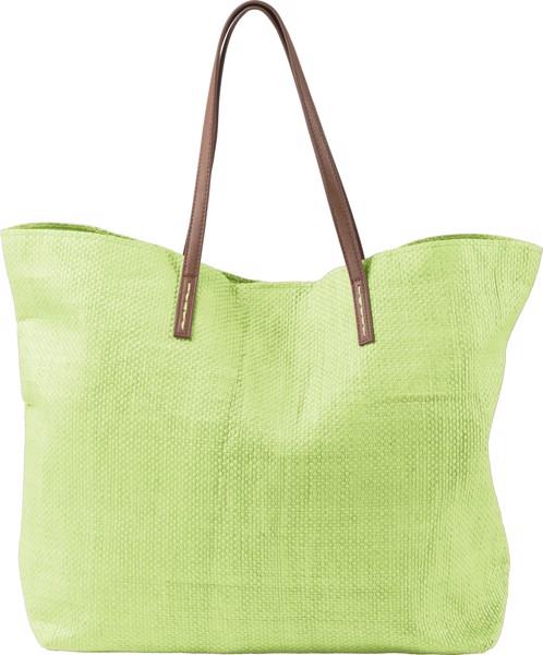 Laminated nonwoven (180 gr/m²) beach bag - Lime