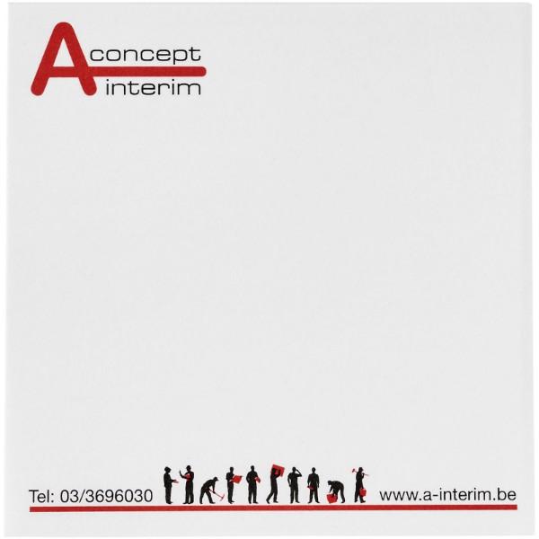 Samolepicí lístečky Sticky-Mate® 75x75mm - Bílá / 50 pages