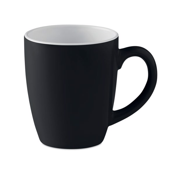 Ceramic coloured mug 300 ml Colour Trent - Black