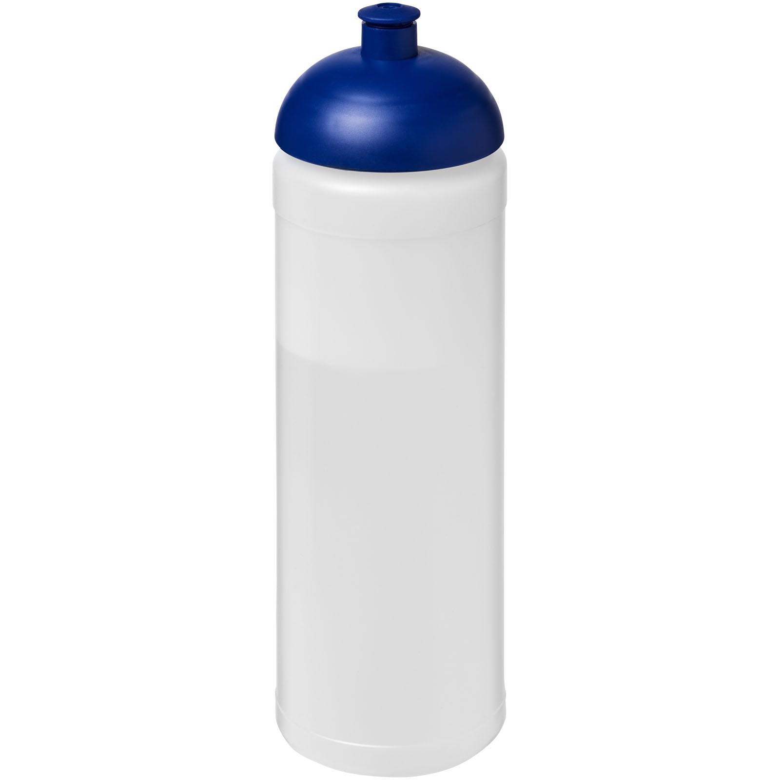 Sportovní láhev s kupolovitým víčkem Baseline® Plus 750 ml - Průhledná / Modrá
