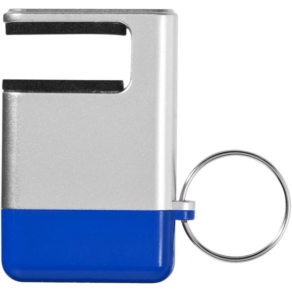 Čistítko displeje a držák telefonu Gogo - Stříbrný / Modrá