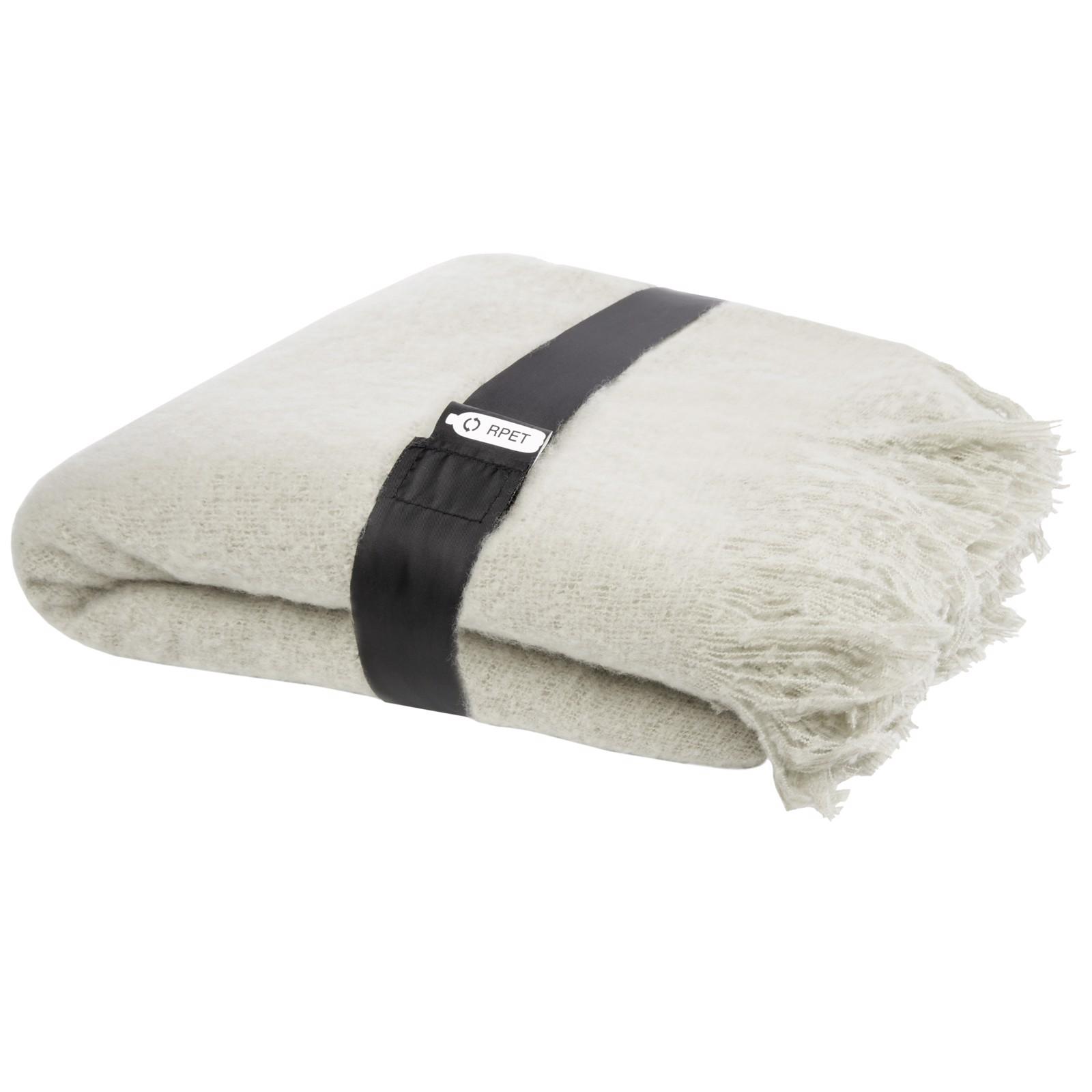 Ivy RPET mohair blanket - Light Grey