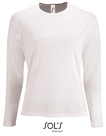 Women`S Long-Sleeve Sports T-Shirt Sporty - White / XXL