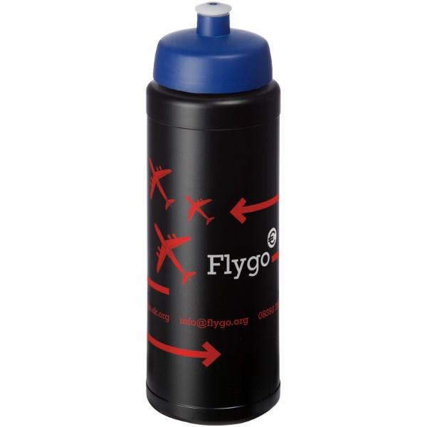 Baseline® Plus 750 ml bottle with sports lid - Solid black / Blue