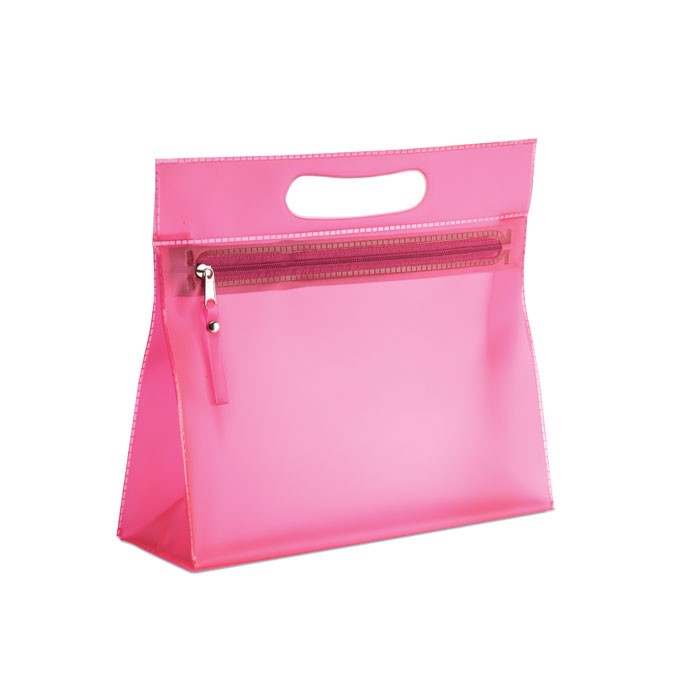 Transparent cosmetic pouch Moonlight - Fuchsia