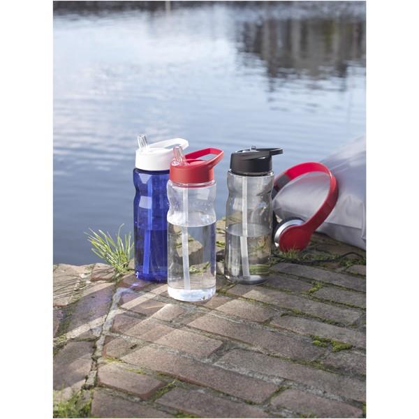 H2O Base® Bidón deportivo con tapa con boquilla de 650 ml - Blanco / Negro intenso
