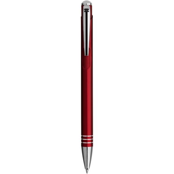 Izmir Kugelschreiber mit Rändel-Druckknopf - Rot