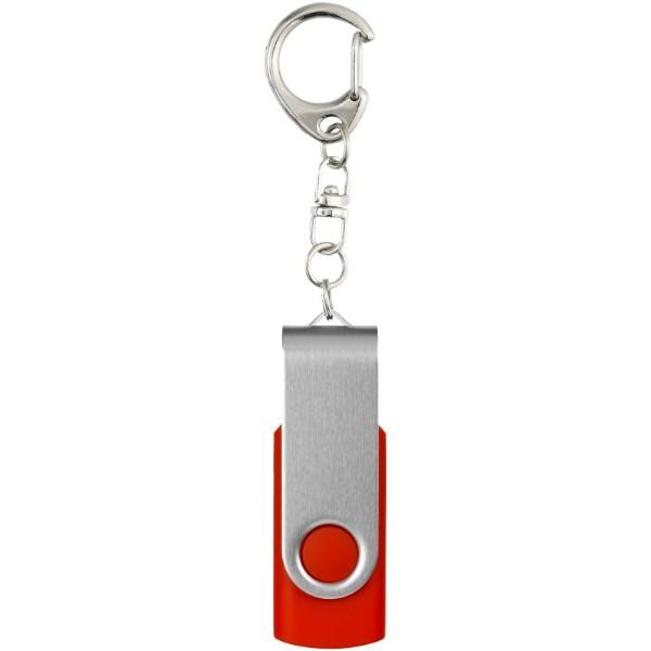 Rotační USB s klíčenkou - Středně tmavá červená / 16GB