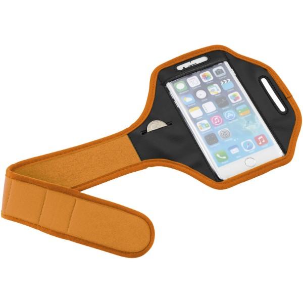 Gofax smartphone bracelet with transparent cover - Orange