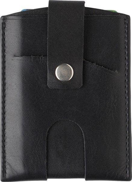 Split leather credit card wallet