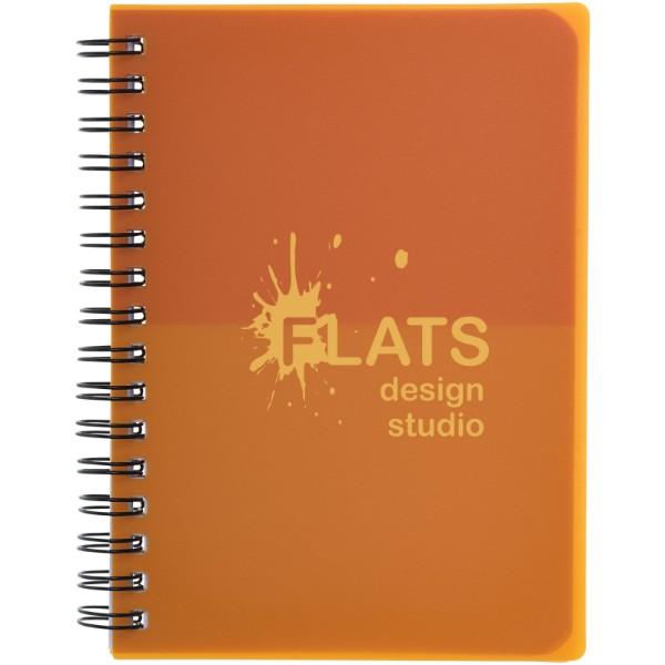 Colour-block A6 spiral notebook - Orange