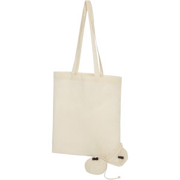 Składana torba na zakupy Patna wykonana z bawełny o gramaturze 100 g/m²