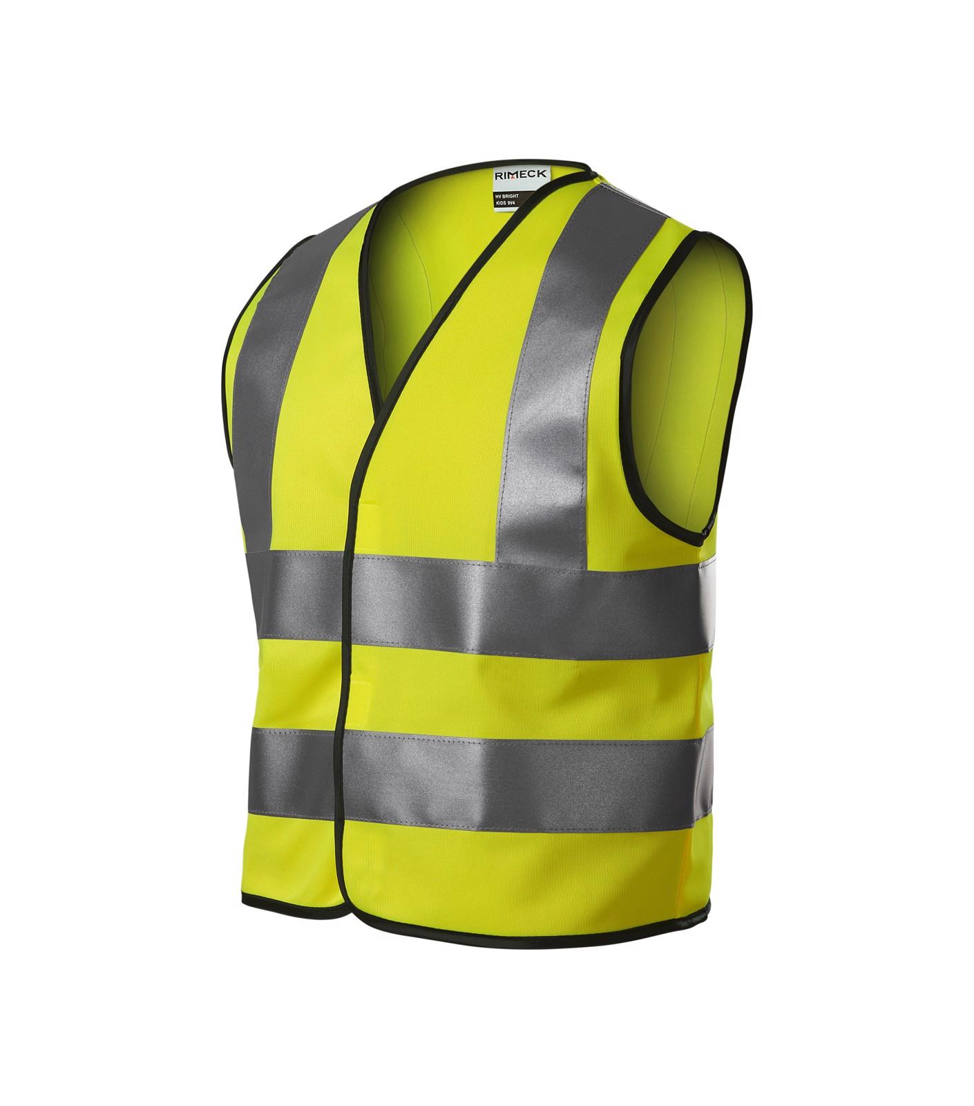 Bezpečnostní vesta dětská Rimeck HV Bright - Fluorescenční Žlutá / 6-8 let/116-140 cm