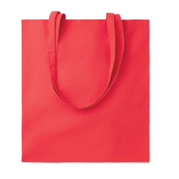 Cotton shopping bag 140 gr/m² Cottonel Colour + - Red