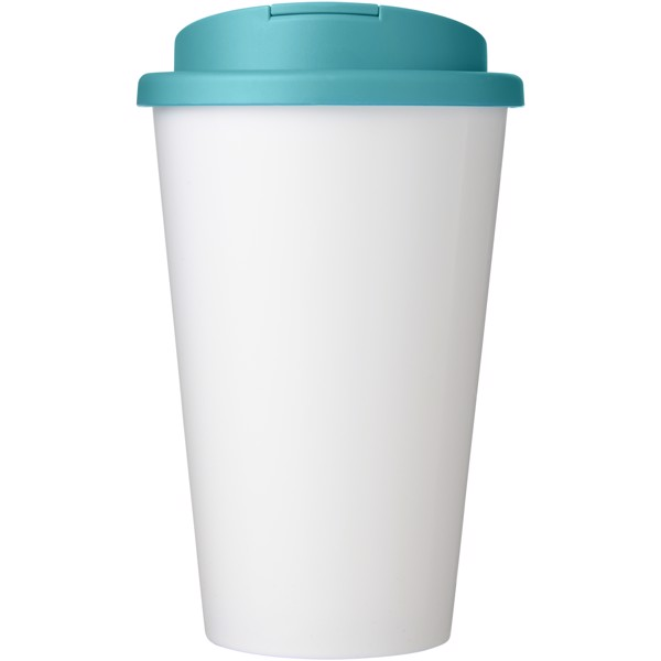 Brite-Americano® 350 ml tumbler with spill-proof lid - White / Aqua