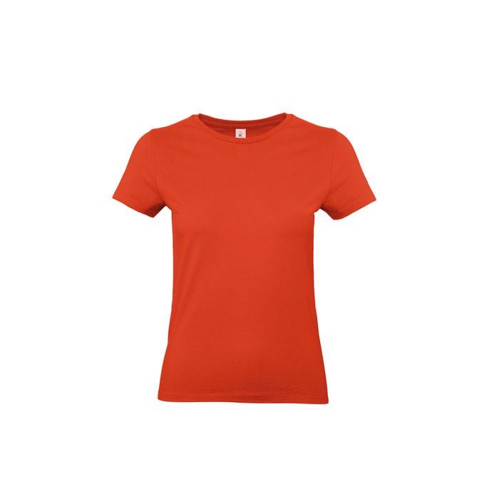 T-shirt female 185 g/m² #E190 /Women T-Shirt - Fire Red / XS
