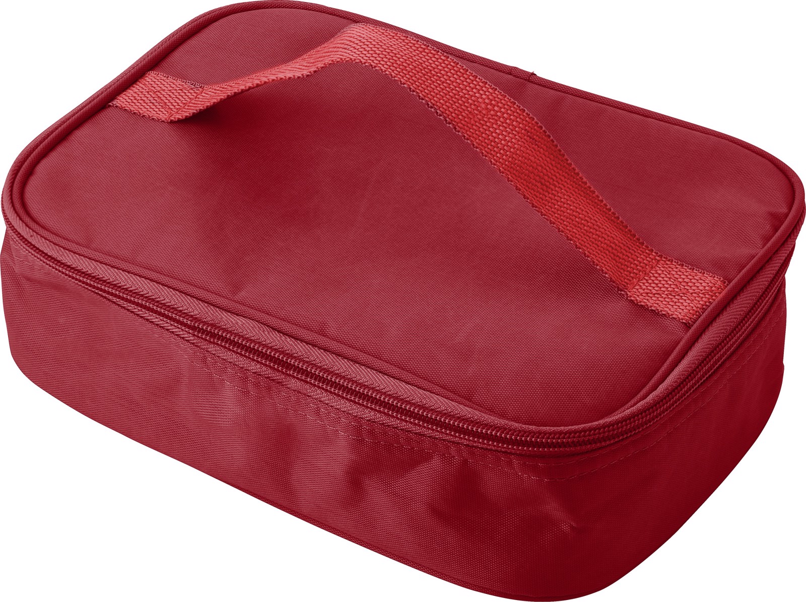 Plastic lunchbox in cooler bag - Red