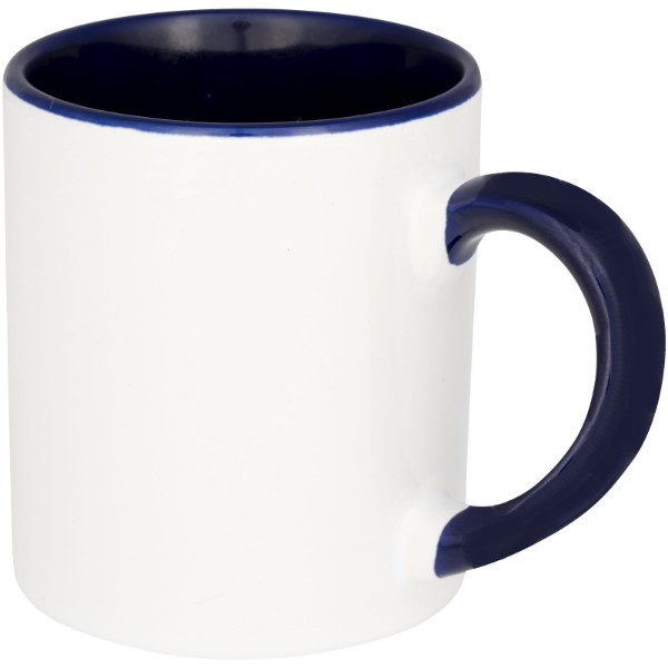 "Mini taza para sublimación con asas e interior de color ""Pixi"" - Azul"