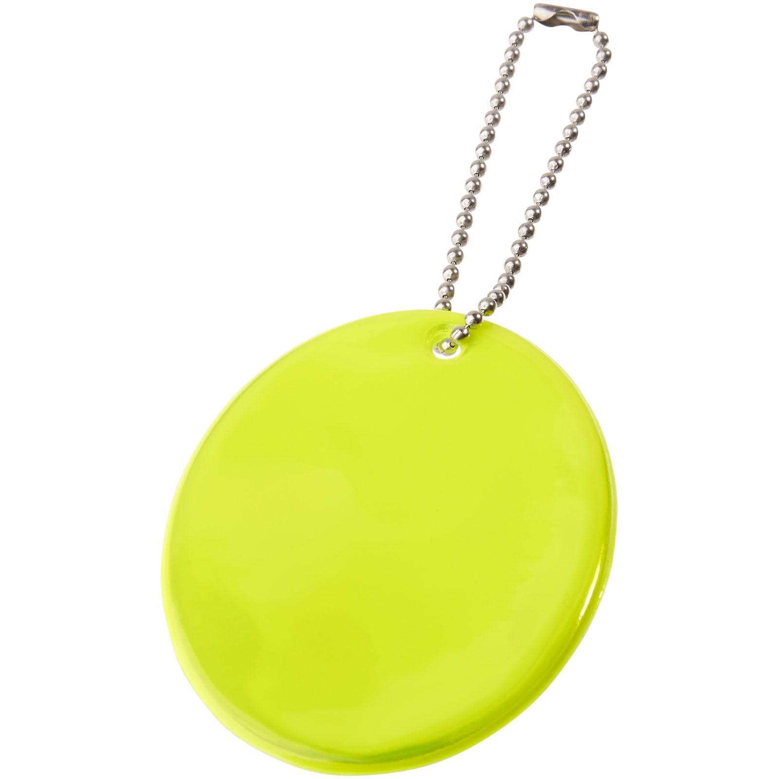 Reflective hanger oval - Yellow