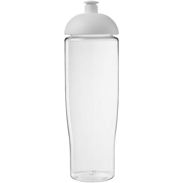 Sportovní láhev s kupolovitým víčkem H2O Tempo® 700 ml - Průhledná / Bílá
