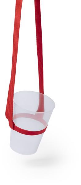 Lanyard Portavasos Frinly - Rojo
