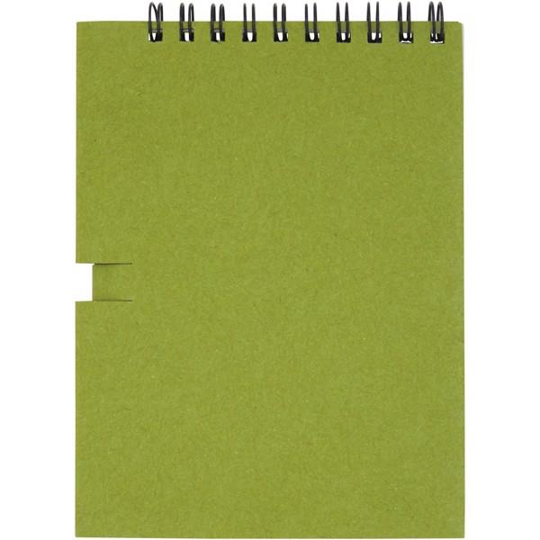 """Libreta pequeña con espiral y lápiz """"Luciano Eco"""" - Verde"""