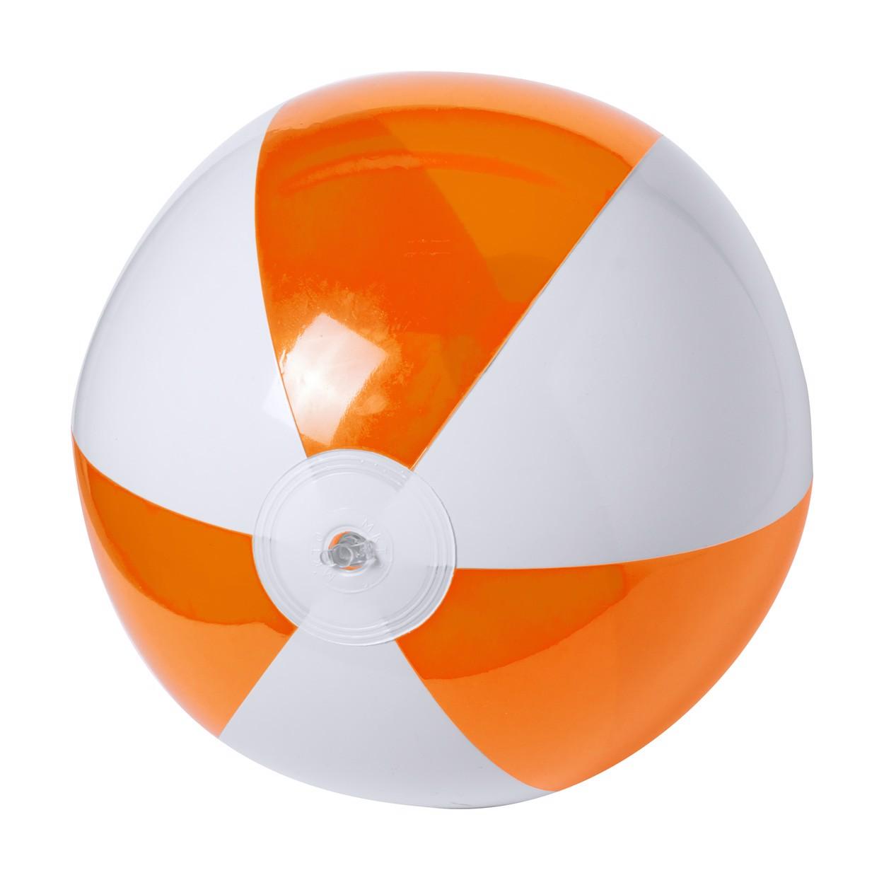 Plážový Míč (Ø28 Cm) Zeusty - Oranžová / Bílá