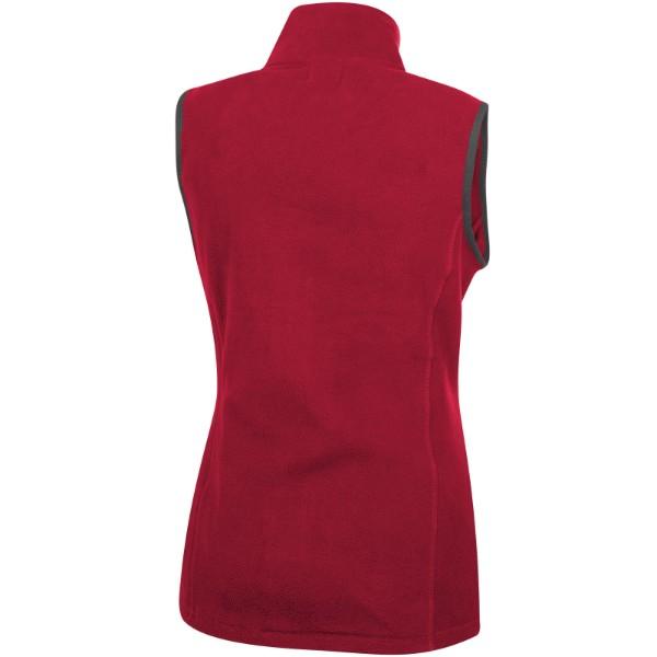 Vesta Tyndall z materiálu micro fleece - Červená s efektem námrazy / XS