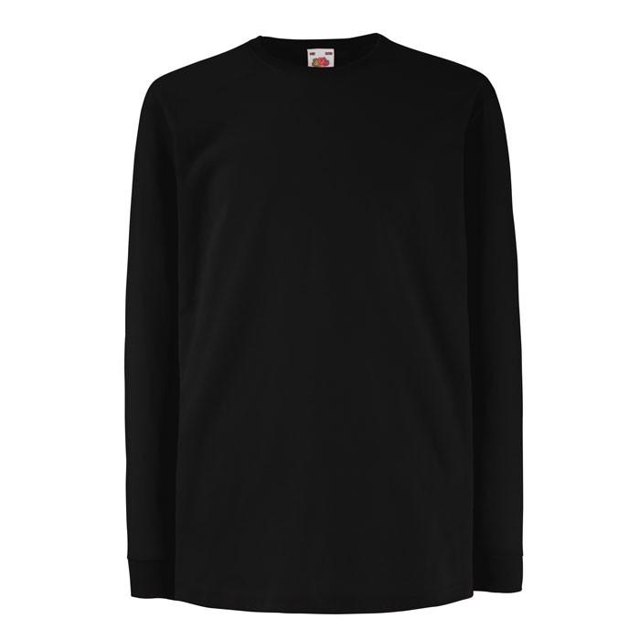 Kinder T-Shirt 165 g/m² Kids Ls Value Weight 61-007-0 - Black/Black Opal / XXL