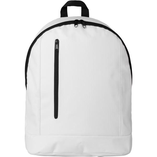 Boulder vertical zipper backpack - White