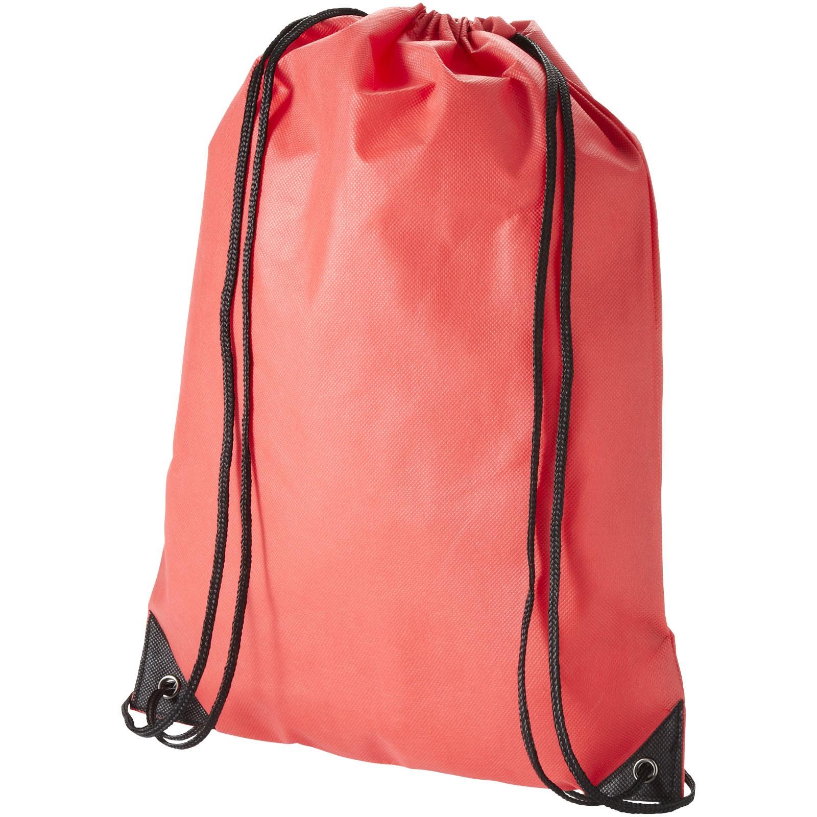 Netkaný, vysoce kvalitní batůžek Evergreen - Červená s efektem námrazy