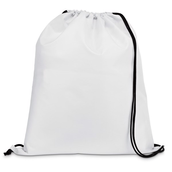 CARNABY. Drawstring bag in 210D - White