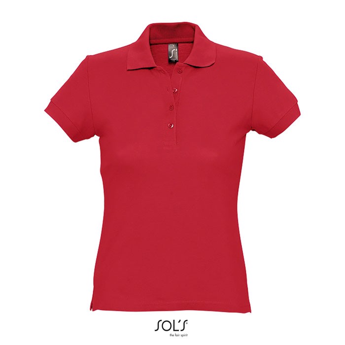 PASSION POLO MUJER 170g - Rojo / XL