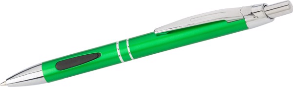 ABS ballpen with rubber grip pads - Grey