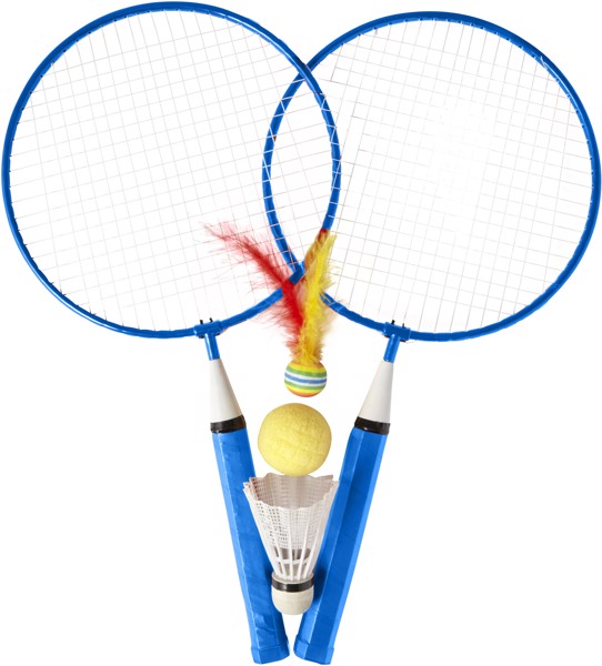 Iron badminton set - Cobalt Blue