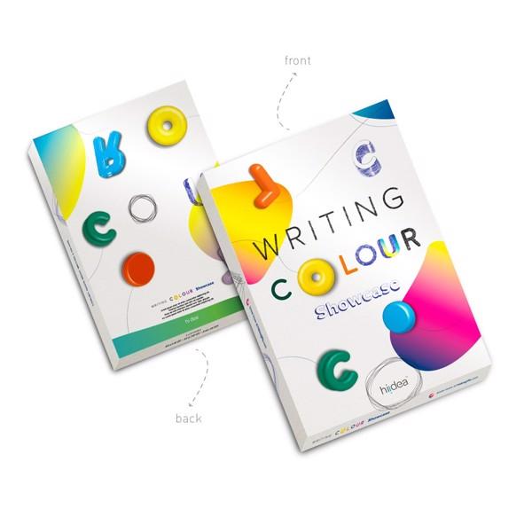 COLOUR WRITING SHOWCASE. Showcase with 20 coloured ball pens