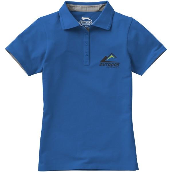Hacker Poloshirt für Damen - Himmelblau / Grau / S