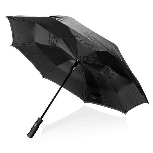 """Automatický 23"""" reverzní deštník Swiss Peak"""