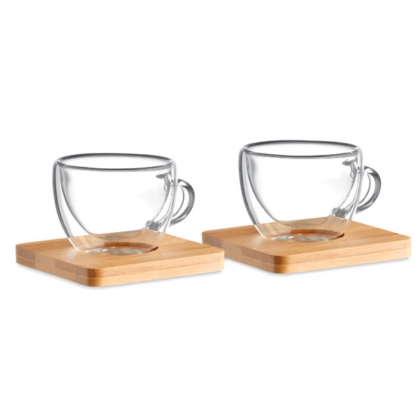 Set of 2 double wall espresso Belize