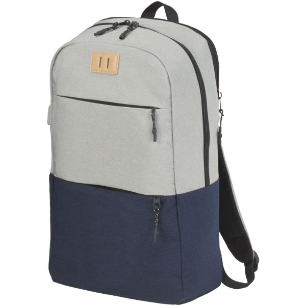 "Cason 15"" laptop backpack - Navy / Light grey"