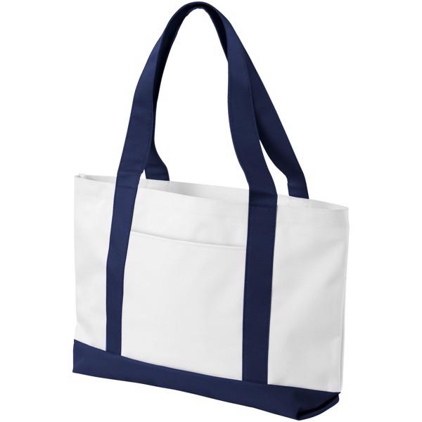 Madison tote bag - White / Navy