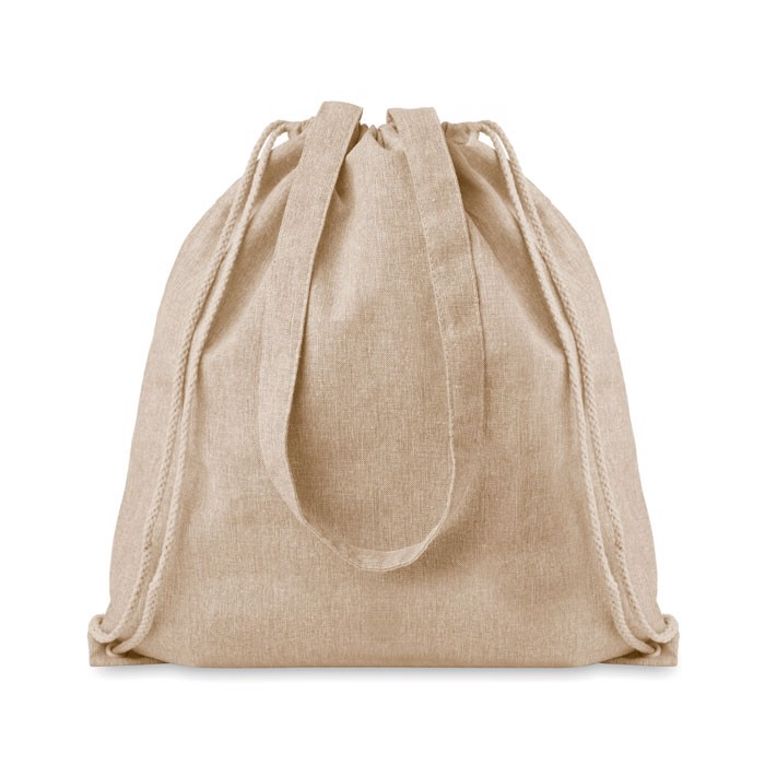 Recycled fabric 2 function bag Moira Duo - Beige